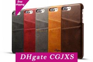 Novo Luxo Estilo Moda Negócios Carteira de telefone Capa Para Iphone 7 Com Cartão de Crédito Pokect Slots Leather Case Capa Para Iphone 7 Plus