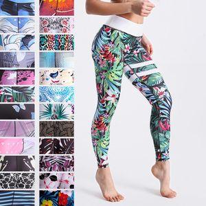 Qickitout 12% Empurre Spandex cintura alta Impresso Digital aptidão Up Esporte Ginásio Leggings Mulheres