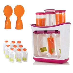 OEM Squeeze Fruit Juice Station and Pouches Feeding Kit Baby Storage Containers FAD Free Newborn Food Maker Set Wholesale
