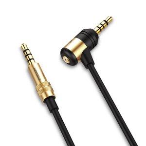 Cgjxs Joyroom Aux Kablo 3 .5mm Elektroliz Ses Tak Erkek için Erkek Ses Kablo 1m Stereo Araç Uzatma Kablo İçin Dijital Cihaz