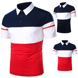 Short Sleeve Polo Shirt New Mens Summer Tops Luxury Mens Designer Polo Casual Contrast Color Lapel Neck