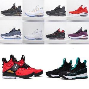 2020 zapatos de primera calidad 15s baloncesto de los hombres de Igualdad Inicio Lakers Violeta de Oro James zapatillas de deporteLebron 15 deportes zapatillas de deporte Tamaño 40-46 # QfDu