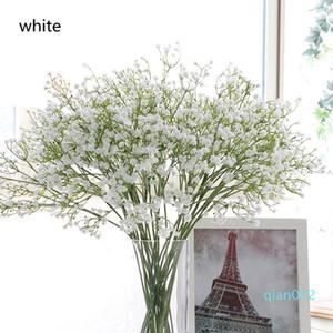 Farbenfrohes Artificial Gypsophila weiche Silikon-Real Touch Blumen Artificial Gypsophila für nach Hause Wedding Partei Festliche Dekoration