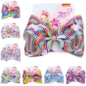 8 pouces Concepteurs cheveux Clips Bow Hairpin Barrettes Jojo Siwa Cartoon Bows Barrettes filles Femmes Hairclip Headress Accessoires cheveux D82803