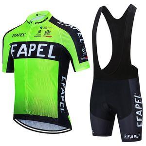 2021 EFAPEL Yeşil BİSİKLET TAKIMI forması bisiklet Pantolon GİYİM Ropa Ciclismo yaz MTB PRO bisiklet Maillot Şort takım mens