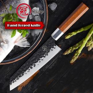 8inch el yapımı 8inch Şef Bıçağı Japon Kiritsuke Mutfak Bıçakları Paslanmaz Çelik Dilimleme Araçları Ahşap Kol Hediye Kutusu