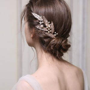 Pearl Blade Original design Handmade Comb women Exclusively Wedding Party Headdress