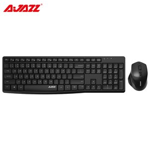 Ajazz A2030W 2.4G Mute Wirelesss Keyboard and Mouse Combos Set 10M Transmission 6 Keys Silent Kit Mouse PC Gamer for Home Office