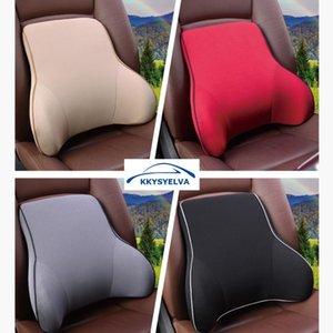 KKYSYELVA mousse à mémoire Soutien lombaire Retour coton Massager taille housse de siège de voiture Retour Pillow support Rest
