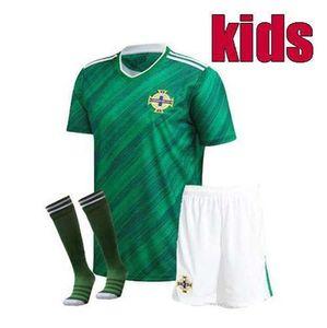 كيت الاطفال 2020 2021 أيرلندا الشمالية أيرلندا الشمالية 2020/21 لكرة القدم الفانيلة المنزل EVANS لويس قمصان كرة القدم للأطفال