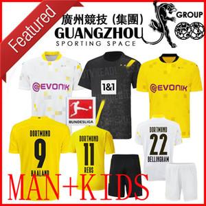 20 21 19 20 ADULTO KIT Dortmund 110 copo AFASTADO TERCEIROS miúdos camisa de futebol 2020 PERIGO 10 REUS Haaland 9 Liga HOMENS criança SETS shirts