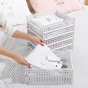 Separated Plastic Multi Rack Storage Layer Home Wardrobe Drawer Drawer Clothes Storage Folding Storage Box Box Basket Wardrobe YxOoP