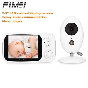 FIMEI XF808 3.5 인치 베이비 모니터 무선 비디오 유아 모니터 홈 보안 보모 카메라 온도 수면 나이트 비전