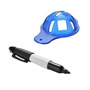 1set Golf Ball Marker Liner outil Marker + Pen Golf Training Accessoires pratique outil