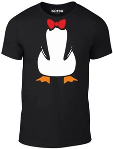 penguin suit t-shirt - funny t shirt fancy dress joke cute animal bow tie carton casual pride t shirt men unisex new fashion