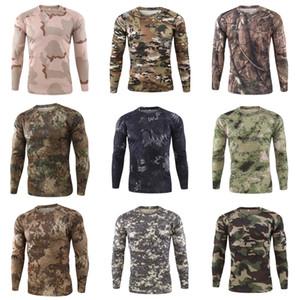Gömlek Koşu Kuru Fit Erkek Spor Giyim Scoop Boyun Uzun Kollu Hızlı Kuru Giyim Body Building Suit Polyester Giyim # 429