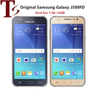 Original Recuperado Samsung Galaxy J5 J500F Dual SIM 5,0 polegadas tela LCD Quad Core de 1,5 GB RAM 16GB ROM 13MP 4G LTE telefone celular