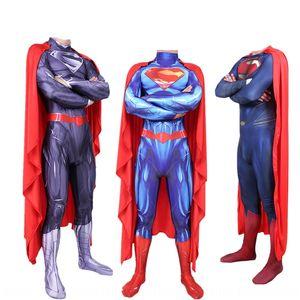 dKQwQ Superman tightsclothing super-herói cosplay uma peça collants Superman calças apertadas calças apertadas tightsclothing super-herói cosplay de uma torta