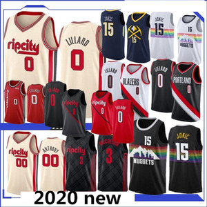 NCAA Damian 0 Lillard Carmelo Anthony 00 15 Jokic Basketball Jerseys C. J. 3 McCollum 27 Murray neue Top-Qualität Jersey