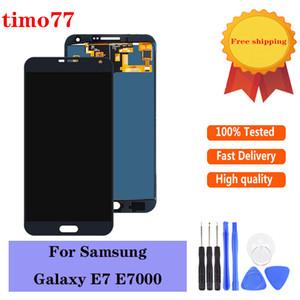 Samsung Galaxy E7 E700 E700F E7000 E7009 İçin Yüksek kaliteli TFT parlaklık ayarlı Yeni LCD Ekran Dokunmatik ekran Sayısallaştırıcı Değiştirme