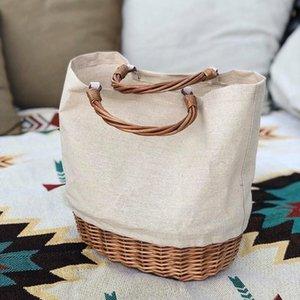 Luxury Handbag Summer Bucket Arrive Wicker Straw Shoulder Bohemian Clutch Basket Tote Beach Bags Women Lady Rattan Travel Bag Crpsx