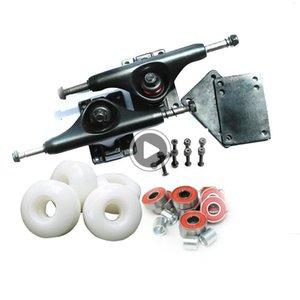 프로 스케이트 보드 전체 요소 알루미늄 5 인치 스케이트 보드 트럭과 푸 스케이트 휠 로다 요소 ABEC-9의 Jpyzx