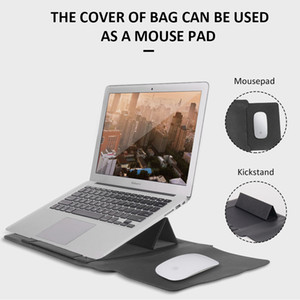 Laptop Bag PU Leather Sleeve Bag Case For Macbook Air Pro Notebook Sleeve Bag 11 12 13.3 15.4 inch Case
