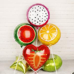 1pc Fruit balões de morango aniversário da folha Balão Balões do partido para chá de bebê caçoa favores decoração do partido