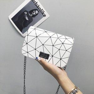 Women Fashionable Shoulder Bags 2019 New Korean Version of The Messenger Bag Handbag Wild Crack Printing Wild Shoulder Bag