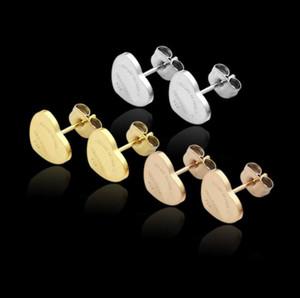 2021 316L Titanium carta de aço brinco com Super bonito coração homens de sorte mulheres meninas casamento preço presente fábrica de jóias Frete grátis