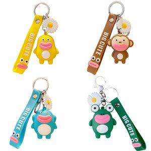 Anime Cartoon Wurst Mund Puppe Schlüsselanhänger Lustiger Affe Keychain Frauen Schmucksache-nette Charme-Bag Schlüsselanhänger Auto-Schlüsselring-Zubehör