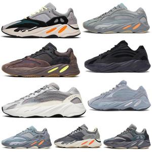 Yeni 700 Karbon çamurcun Mavi spor ayakkabıları Koşu Dalga Kanye West Atalet yarar Katı Reclective ayakkabı erkekler kadınlar Mıknatıs siyah statik Stilist ayakkabı