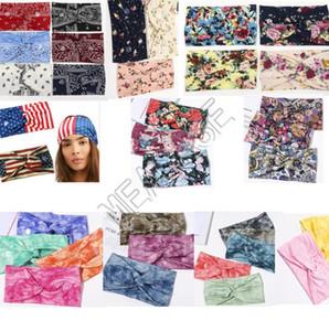 Kadınlar Kulak Koruyucu Bohemya Çiçek hairbands Tasarımcılar Maske Tutucu Elastik Hairlace Saç Aksesuarları D81809 için Button ile Headband Sweat