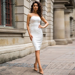 Up to 90%Off Big Sale!!!10th Anniversay Shopping Festival!2020 Summer High Quality Women Sexy White Bodycon Bandage Dress0924