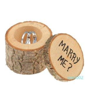 Обручальное кольцо Bearer Box Вуд DIY Boxex Симпатичные Малый Подарочная коробка Novel Holiaday партия подарков WY439