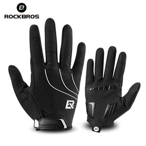 ROCKBROS Full Finger Windproof Cycling Riding Bicycle For Men Women Bike Gel pad Sport Shockproof Gloves 201022