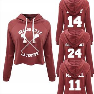 Women Harajuku Cropped Hoodies Sweatshirts Teen Wolf Beacon Hills Lacrosse McCall Stilinski Lahey Crop Top Hoodie Streetwear