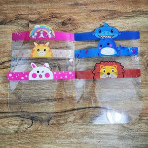 Kinder Kid Sicherheitsgesichtsschutz Transparent volle Gesichts-Abdeckungs-Schutzfolie Anti-Fog-Premium-PET Face Shield Party Mask-Kopf-Abdeckung Kid Geschenke