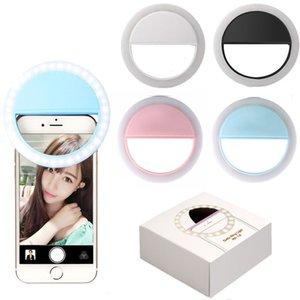 LED selfie Luz Para Iphone 11 XR XS Max Universal selfie Lamp Mobile Phone Lens portátil anel de flash Para Samsung S20 Huawei P40