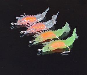 4 pack pacote de simulação macio chumbo 6cm3g false false camarão macio pseudo camarão Simulação Bait Luya isca 6pLUT