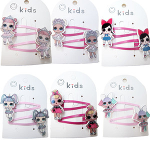 Baby Girl LoL Hair Clip Barrettes Mini Headbands Colored Gum Children Rubber Band Children Hair Ropes Christmas Party Hair ps2294