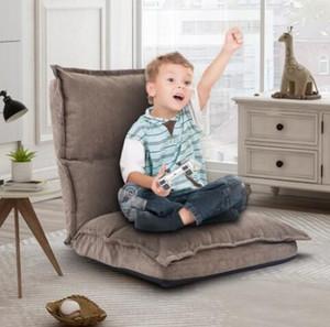 EUA Sotck Tecido Estofado Dobrando Sofá Preguiçoso Presilha Ajustável Piso Sofá Cadeira Fast Shipping