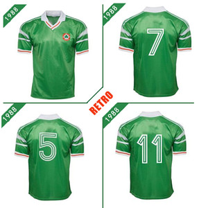 Irlande 1988 de football maillot rétro 88 90 Stapleton McCarthy McGrath Houghton Whelan Kelly Aldridge cru Quinn chemise classique de football