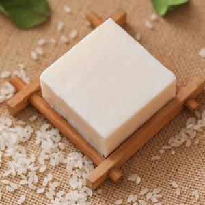 1PC اليدوية رايس الحليب صابون الكولاجين فيتامين الجلد المنزل للسفر حمام Cleanre إزالة ترطيب تبييض المنزل للسفر حمام نظيف