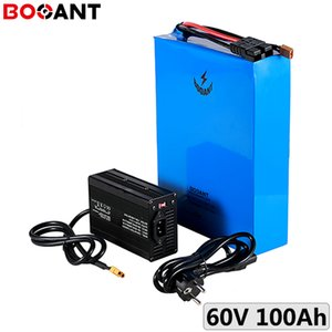 60V Rechargeable lithium battery 16S 100Ah 7000W electric bike pack for Samsung 50E 21700 cell with 10A Charger