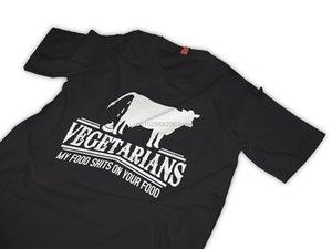 Carne comedores vegetarianos camiseta camiseta divertido barato al por mayor de Tees100% algodón para la camisa ManT impresión de la manga corta ocasional de la ETE