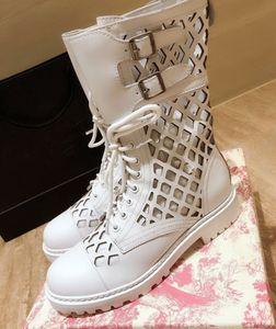 Hot Sale Shoes Women Spring Summer Women Boots Genuine Leather Platform Boots Metal Decor Low Heels Women Boots Zapatos De Mujer