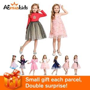 Vestidos de boda de la princesa del niño de niños de los niños del vestido del bebé ropa de la muchacha del partido de las Pink Otoño del verano para niñas 2-8 años