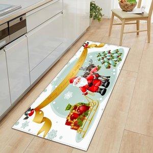 Küchen Mat Weihnachten Dekorative Wohnzimmer Teppiche Eingang Fußmatte Anti-Rutsch Badematte 3D Flur Schlafzimmer Kinderbodenteppich