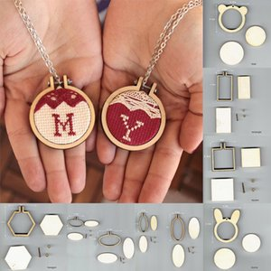 Mini Embroidery Hoop Wooden Embroidery Frame Small Hand Stitching Hoop Cross Framing Wood Earring DIY Gift Jewelry Pendant